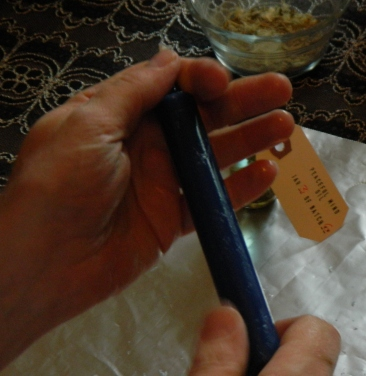 Dressing A Ritual Candle With Oil