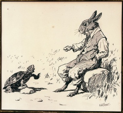 Illustration by A.B. Frost, Terrapin Speaking to Brer Rabbit
