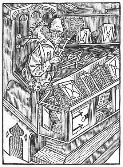 The Book Fool, a 1494 woodcut by Sebastian Brant