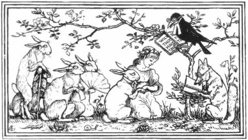 "from the Grimm story, ""The Rabbit's Wife"""