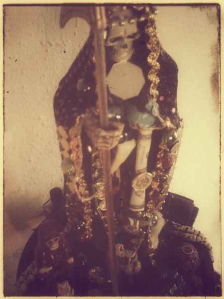Santa Muerte In Purple