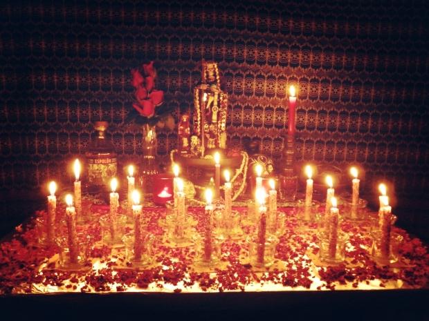 Completed Santa Muerte Altar